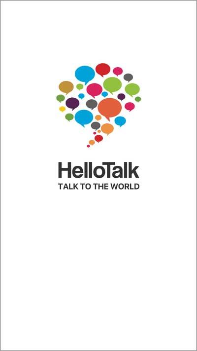 HelloTalk初期画面