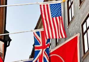 アメリカ国旗、イギリス国旗