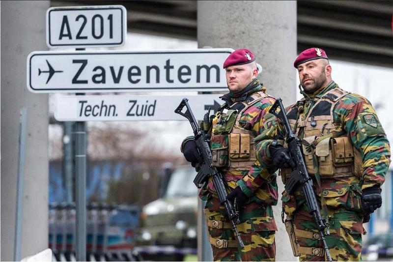 ベルギーの軍隊による警備