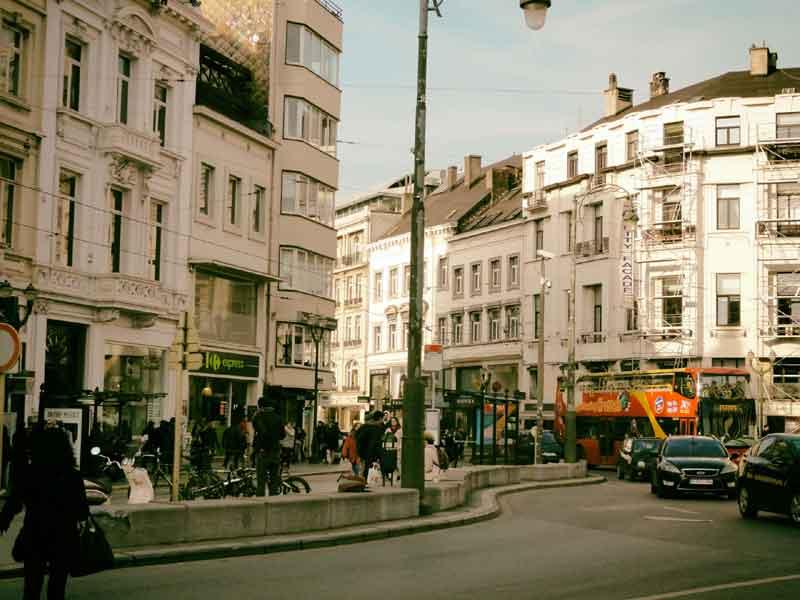 ブリュッセルの街並み