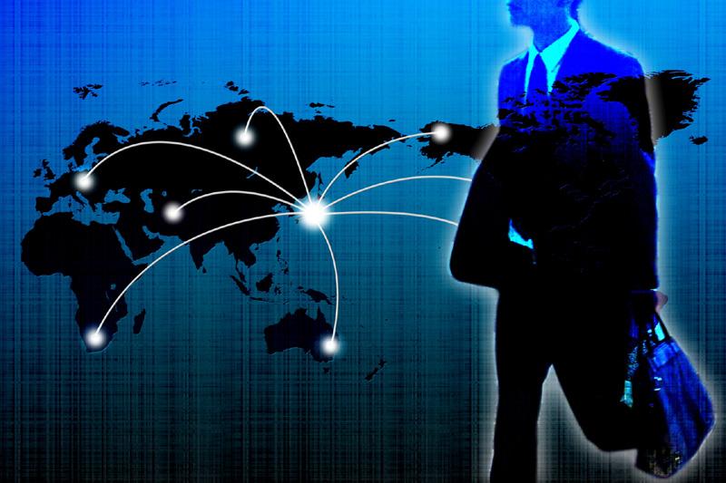 世界で活躍するビジネスマン