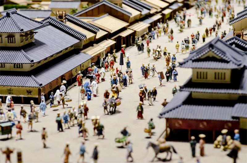 江戸時代の街並み